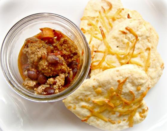 turkey chili and gruyere biscuits recipe