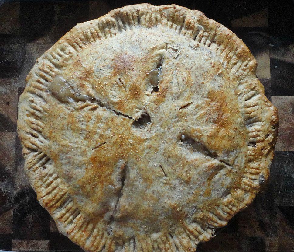"Chard,mushroom,""bacon"" & bean pot pie"
