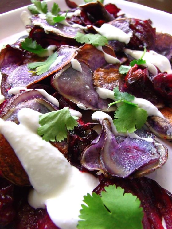 purple potato and beet chips
